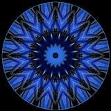Digitaal kunstontwerp, oosters patroon, blauwe ster Stock Afbeeldingen