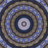 Digitaal kunstontwerp, oosters patroon, gouden en blauw Stock Foto's