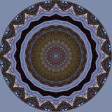 Digitaal kunstontwerp, oosters patroon, gouden en blauw Royalty-vrije Stock Fotografie