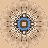 Digitaal kunstontwerp, ster op beige tegen blauwe hemel Royalty-vrije Stock Foto's