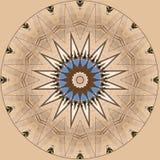 Digitaal kunstontwerp, ster op beige tegen blauwe hemel Stock Foto
