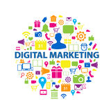 Digitaal marketing concept stock illustratie