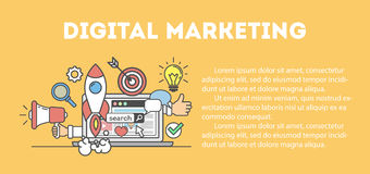Digitaal marketing concept Stock Afbeelding