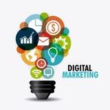 Digitaal marketing ontwerp vector illustratie