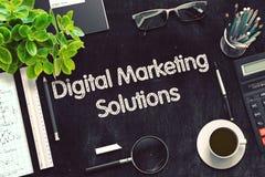 Digitaal Marketing Oplossingenconcept 3d geef terug Stock Foto