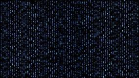 Digitaal matrijsbinair getal die onderaan blauw vallen royalty-vrije illustratie
