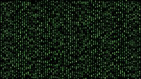Digitaal matrijsbinair getal die onderaan groen vallen royalty-vrije illustratie