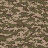 Digitaal naadloos camouflagepatroon Stock Foto