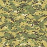 Digitaal naadloos camouflagepatroon Royalty-vrije Stock Afbeeldingen