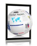 Digitaal nieuws Stock Foto's