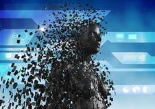Digitaal samengesteld beeld van 3d mens Royalty-vrije Stock Afbeelding
