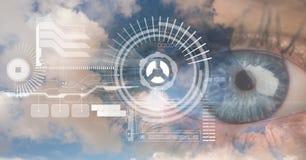 Digitaal samengesteld beeld van ooginterface stock illustratie