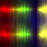 Digitaal signaal op een kleurrijke achtergrond Stock Foto