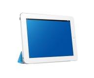 Digitaal tabletapparaat in horizontale mening Stock Afbeeldingen