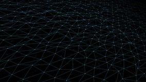 Digitaal Technologie-Net Bewegende achtergrond voor tekst of beeldplaatsing vector illustratie