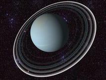 Digitaal Uranus vector illustratie