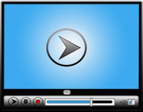 Digitaal VideoMedia Player Stock Foto's