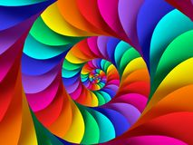 Digitaces Art Abstract Rainbow Spiral Background Stock de ilustración
