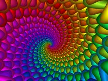 Digitaces Art Abstract Rainbow Spiral Background Ilustración del Vector