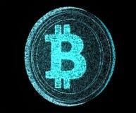 Digitaces Bitcoin Imagen de archivo libre de regalías