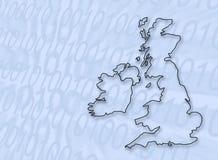 Digitaces Gran Bretaña Imagen de archivo