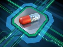 Digital övervakad medicin Arkivbilder