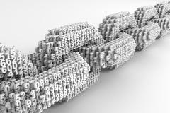 Digital łańcuch Łączyć 3D liczby Pojęcie Blockchain Zdjęcia Stock