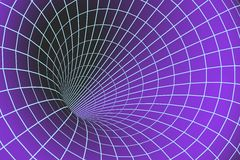 Digital 3d tunnel. On the color background Stock Image