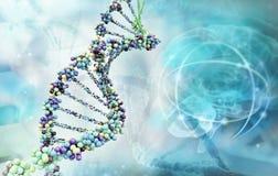 Digital-Abbildung einer DNA lizenzfreie stockfotografie