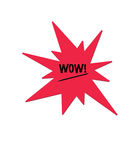 Digital-Abbildung einer roten multi spitzen Nachricht mit dem Wort Stockfoto