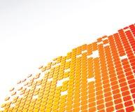Digital abstract background. Orange color  digital abstract background Stock Photo
