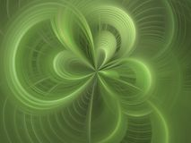 Digital Abstract Background. Curving weave of green (computer generated, digital abstract background Stock Images