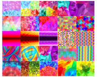 Digital Abstract Background Collection. Vector Design of 25 Digital Abstract Pattern for Background Royalty Free Stock Photo