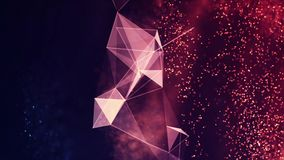 Digital Abstract Background. Cryptocurrency, Internet of Things, Big Data, Network Connections Concept Stock Images