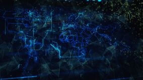 Digital Abstract Background. Cryptocurrency, Internet of Things, Big Data, Network Connections Concept Royalty Free Stock Image