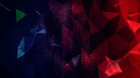 Digital Abstract Map Background Made in Computer Graphics. Digital Abstract Background, Cryptocurrency, Internet of Things, Big Data, Network Connections Concept Royalty Free Stock Photo