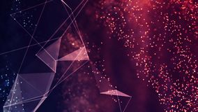 Digital Abstract Background. Cryptocurrency, Internet of Things, Big Data, Network Connections Concept Royalty Free Stock Photos