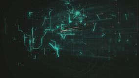 Digital Abstract Background. Cryptocurrency, Internet of Things, Big Data, Network Connections Concept Royalty Free Stock Photography