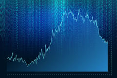 Digital Abstract background. Graph Royalty Free Stock Image