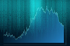 Digital Abstract background. Graph Stock Photos