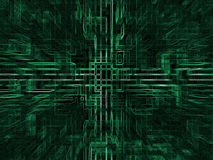 Digital abstract background,green blocks Stock Photos