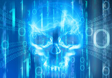 digital abstract background with skull Stock Photography