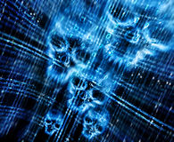 Digital abstract background with skulls Royalty Free Stock Photos