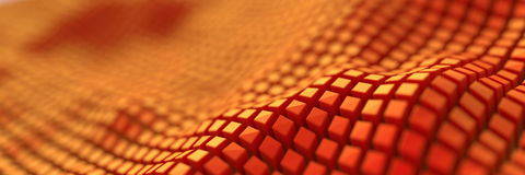 Digital abstract cubes background. Original three dimensional polygonal illustration vector illustration