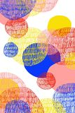 Digital abstract drawing of colorful circles on white background. Digital abstract drawing of colorful circles, with different textures, overlaid on white vector illustration
