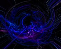 Digital abstract fractal dynamic , fantasy template design dark, artistic royalty free stock images