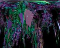 Digital abstract fractal wallpaper flow power , fantasy template design dark, artistic style shape. Digital abstract fractal, fantasy design dark artistic night stock illustration
