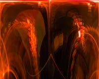 Digital abstract fractal curve , fantasy template design dark, artistic stock photos