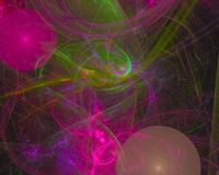Digital abstract fractal sparkle night science curve power , fantasy template design dark, artistic stock photo