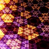 Digital Abstract Fractal Hexagons 3D Plane Royalty Free Stock Photo